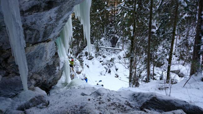Eisklettern im Tannheimer Tal